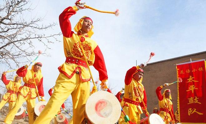 【新春走基层】甘肃兰州:鼓舞太平迎新春