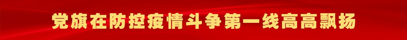 党旗在防控疫情斗争第一线高高飘扬