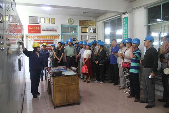 青海省非公党建培训班到方大炭素公司交流学习
