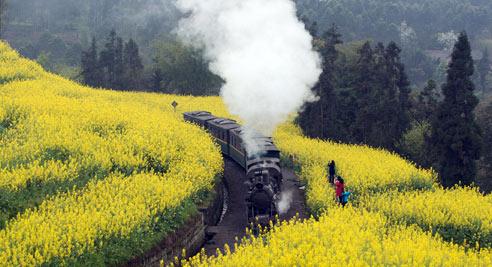 """开往春天的""""小火车"""""""