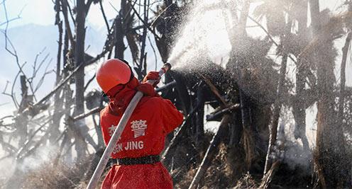 甘肃肃南开展警地联合灭火实战演练