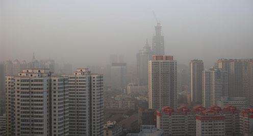兰州遭遇雾霾天气