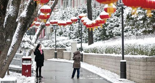 甘肅多地迎降雪天氣