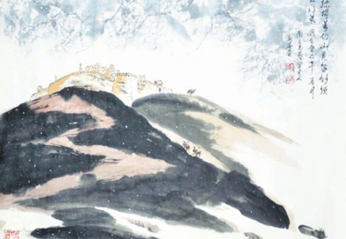 执着求艺情系大漠——记农民画家蒙新喜
