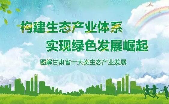 图解甘肃省十大类生态产业发展