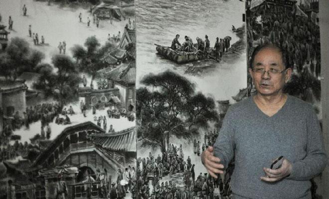 【文化甘肅】王鴻慶:用畫筆定格老蘭州記憶