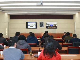 全省网络扶贫工作视频会召开王富民在金昌分会场参加会议