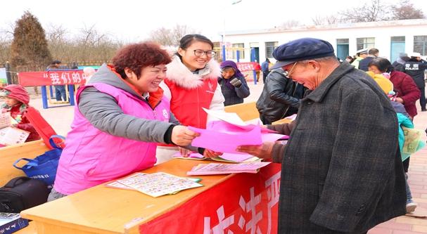 平川區志願者宣傳反家暴法