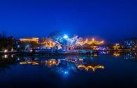 景泰县人民公园夜景