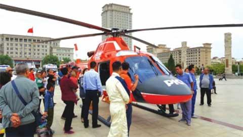 """直升机助力白银""""空地一体""""救援体系建设"""