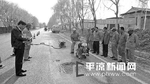 崇信公路管理段开展技术比武活动(图)